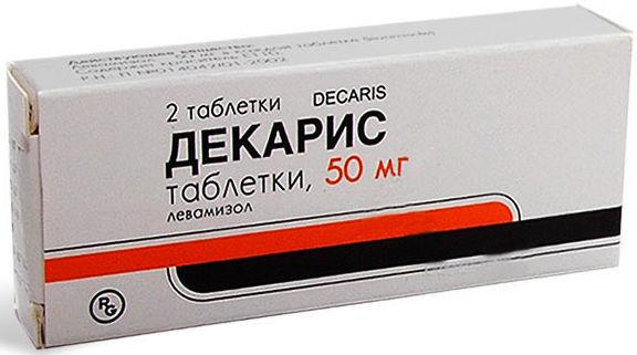Декарис, применение