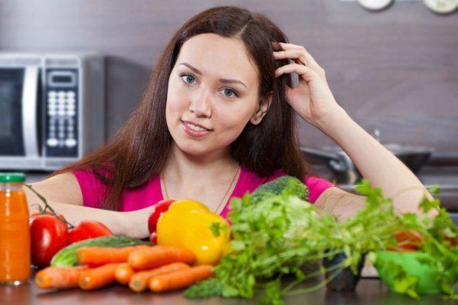 Кушать больше свежих овощей