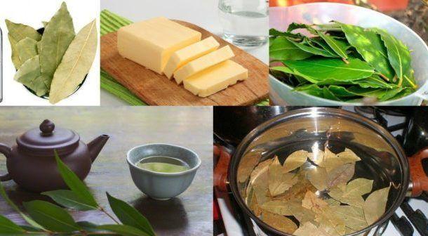 Измельченные лавровые листья со сливочным маслом