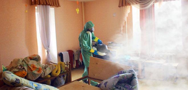 Обработка квартиры холодным паром