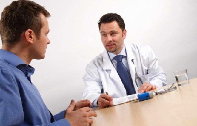 Прием у врача при описторхозе