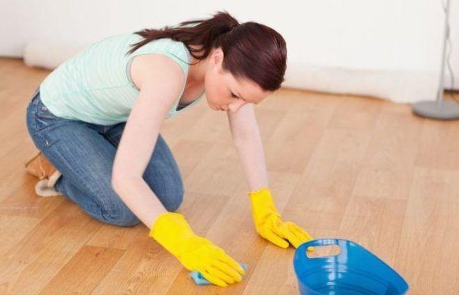 Влажная уборка после дезинфекции