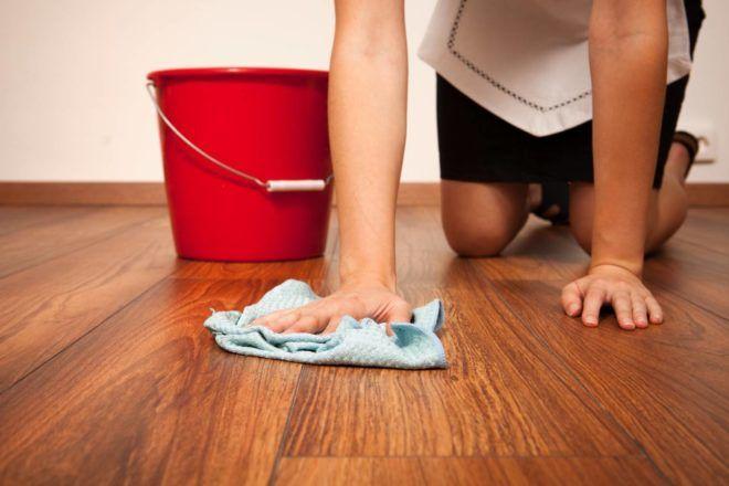 Мытье полов уксусом