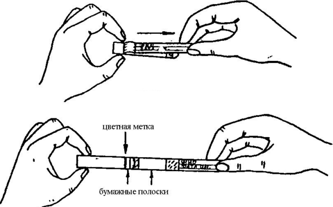 Использование липкой ленты для соскоба на энтеробиоз
